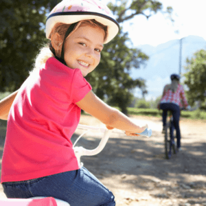 Girl Biking