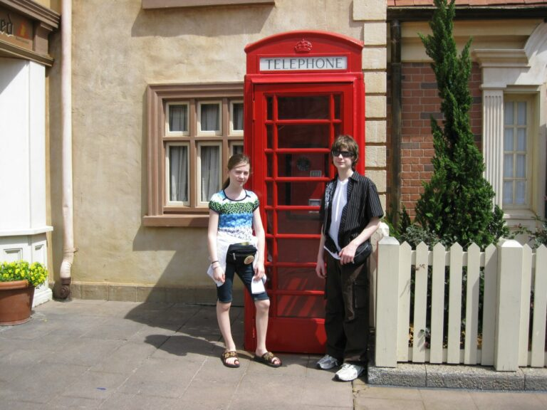 Ben and Tori in England at EPCOT