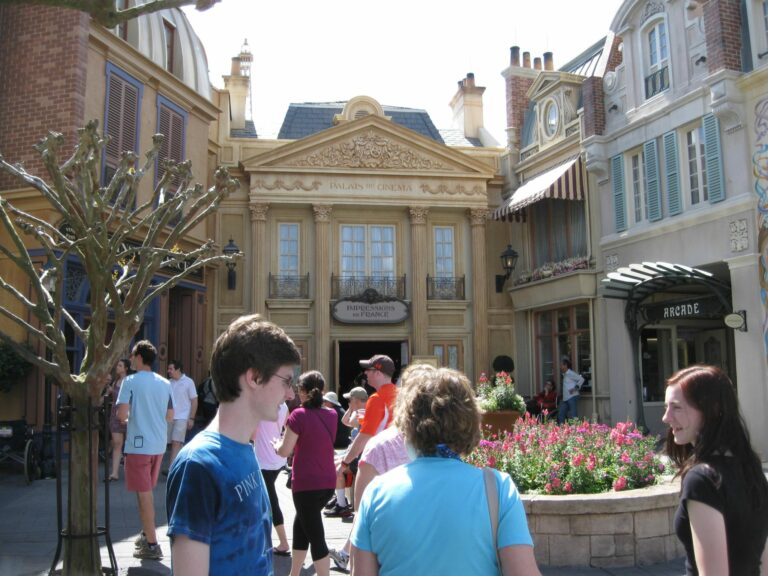 Ben, Mom and Tori in France at EPCOT