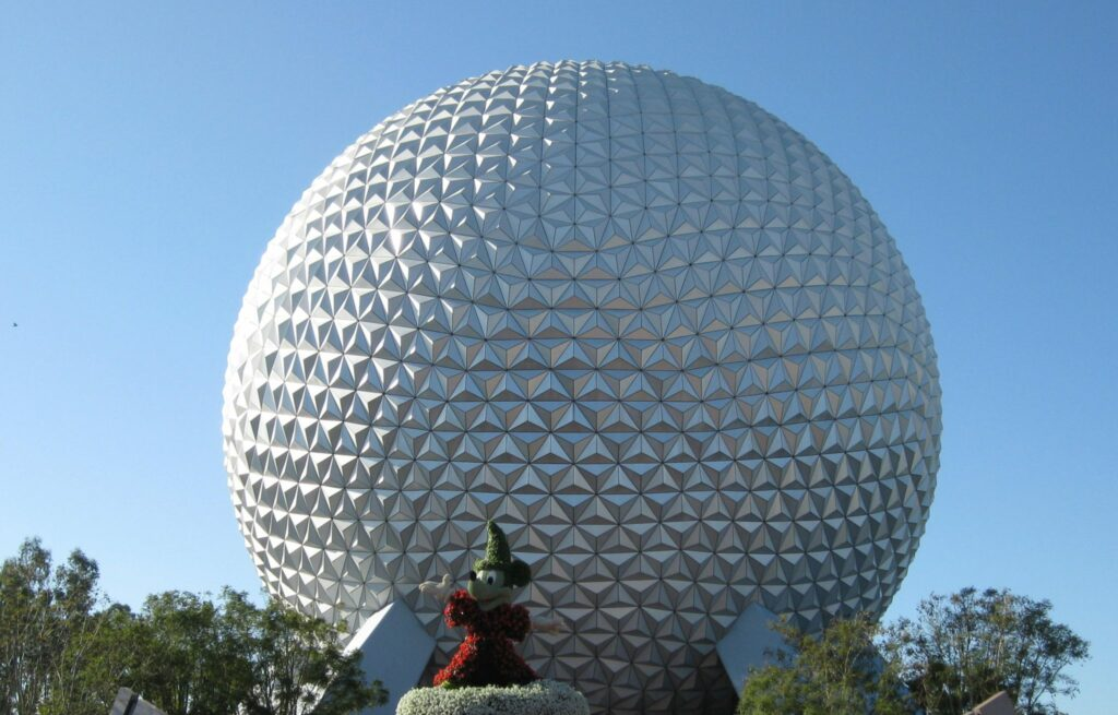 EPCOT Globe with Mickey in front