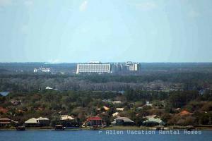 Contemporary Hotel at the Magic Kingdom from the Orlando Eye