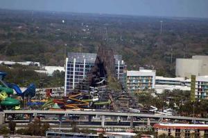 Volcano Bay construction from Orlando Eye